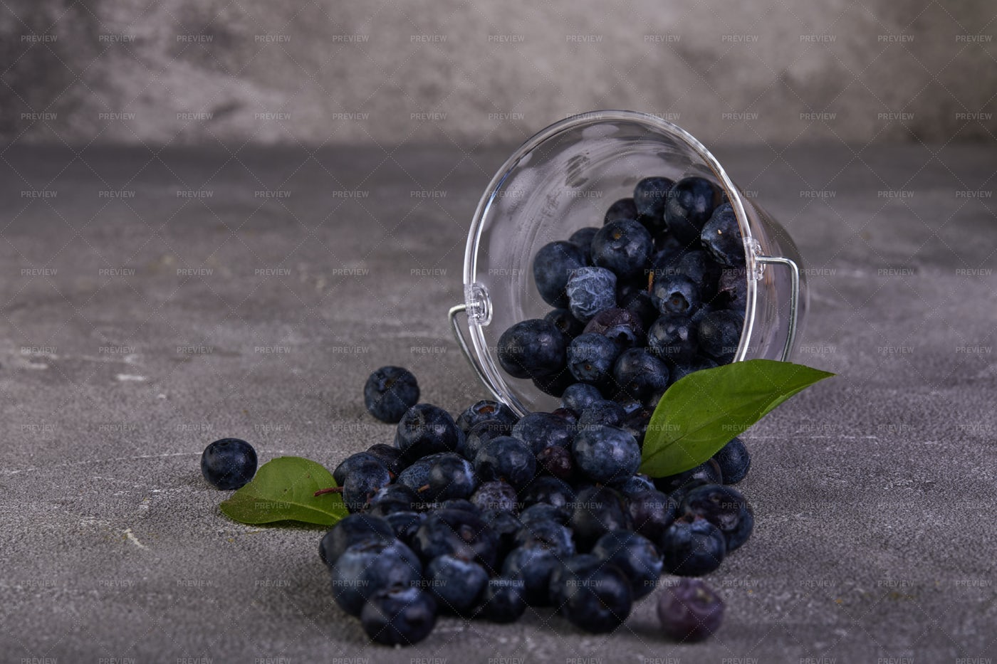Spilled Blueberries: Stock Photos