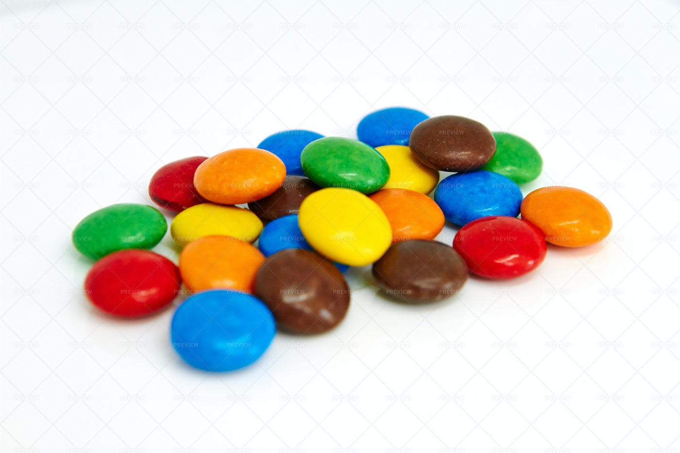 Colorful Chocolate Buttons: Stock Photos
