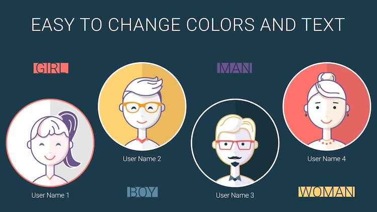 Character Icons: After Effects Templates