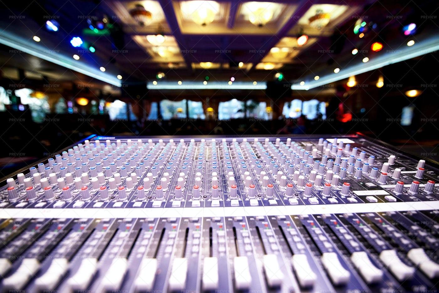 DJ Professional Control Panel: Stock Photos