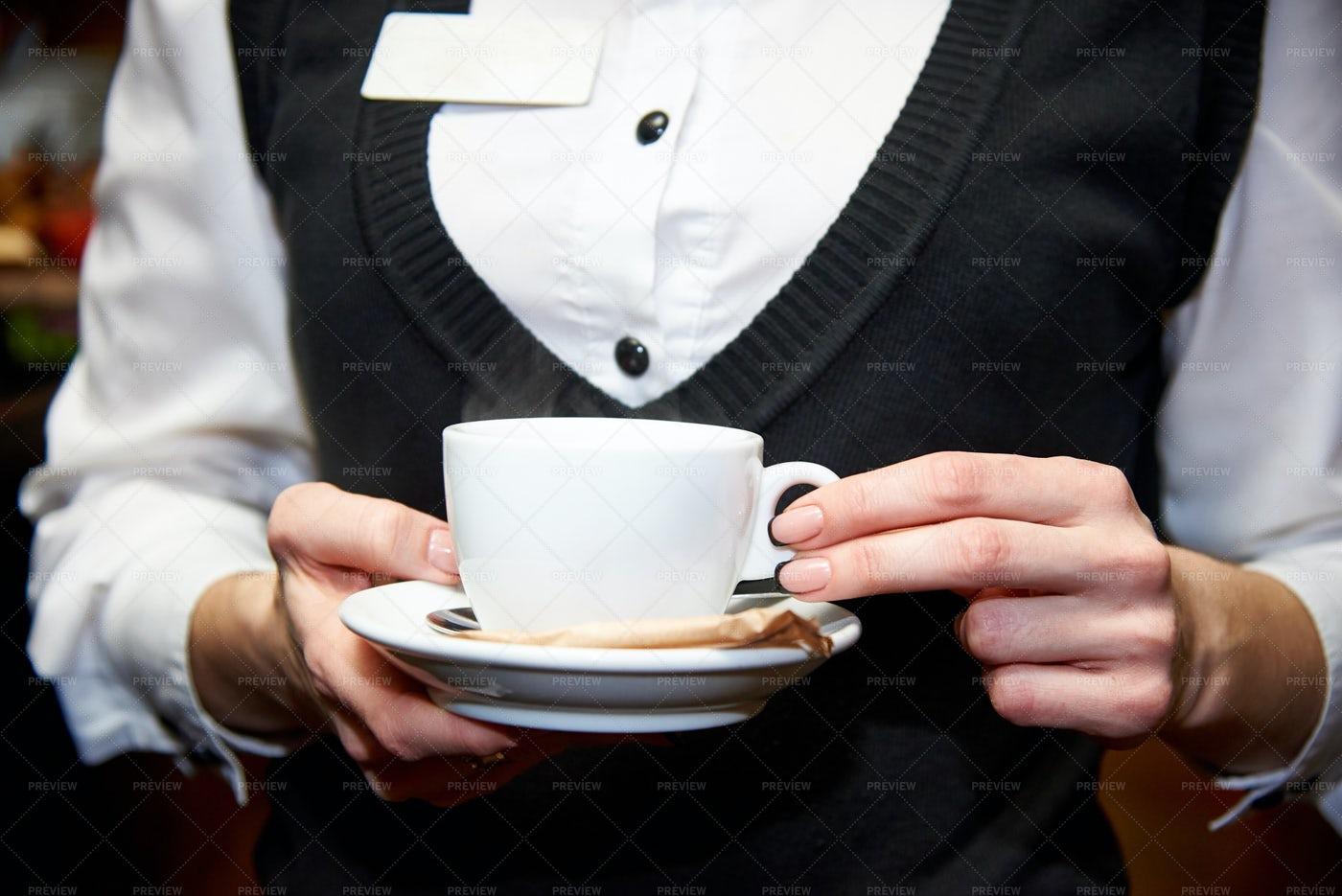 Waiter Serving Tea: Stock Photos