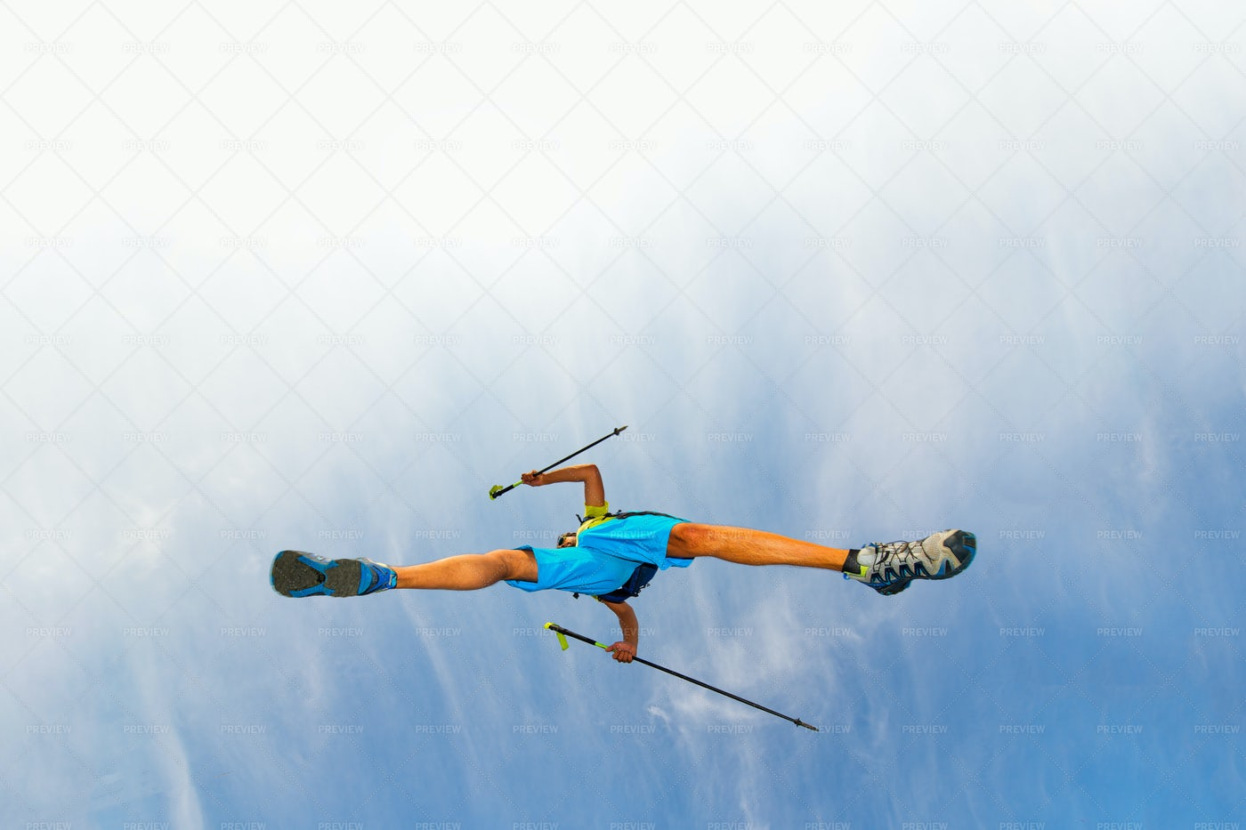 Athlete Making A Jump: Stock Photos