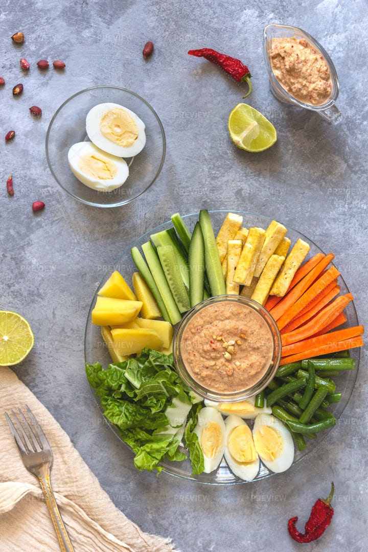 Salad And Ingredients: Stock Photos