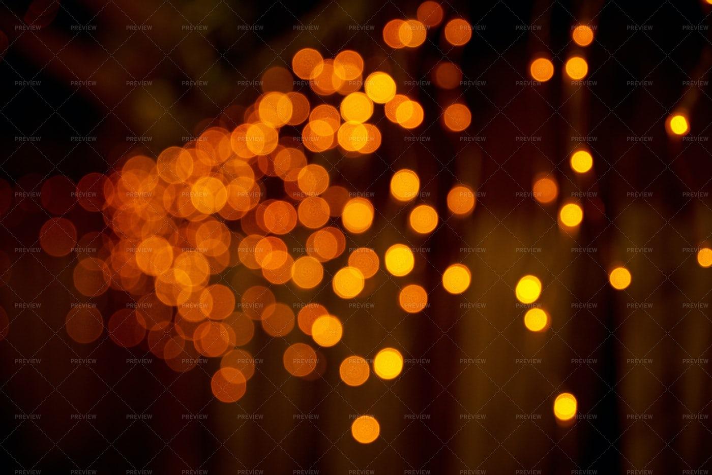 Orange Night Bokeh: Stock Photos