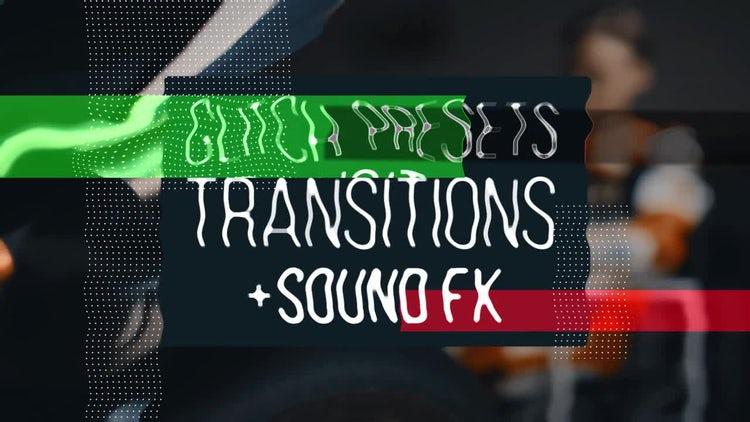 Glitch Transitions Presets: Premiere Pro Templates