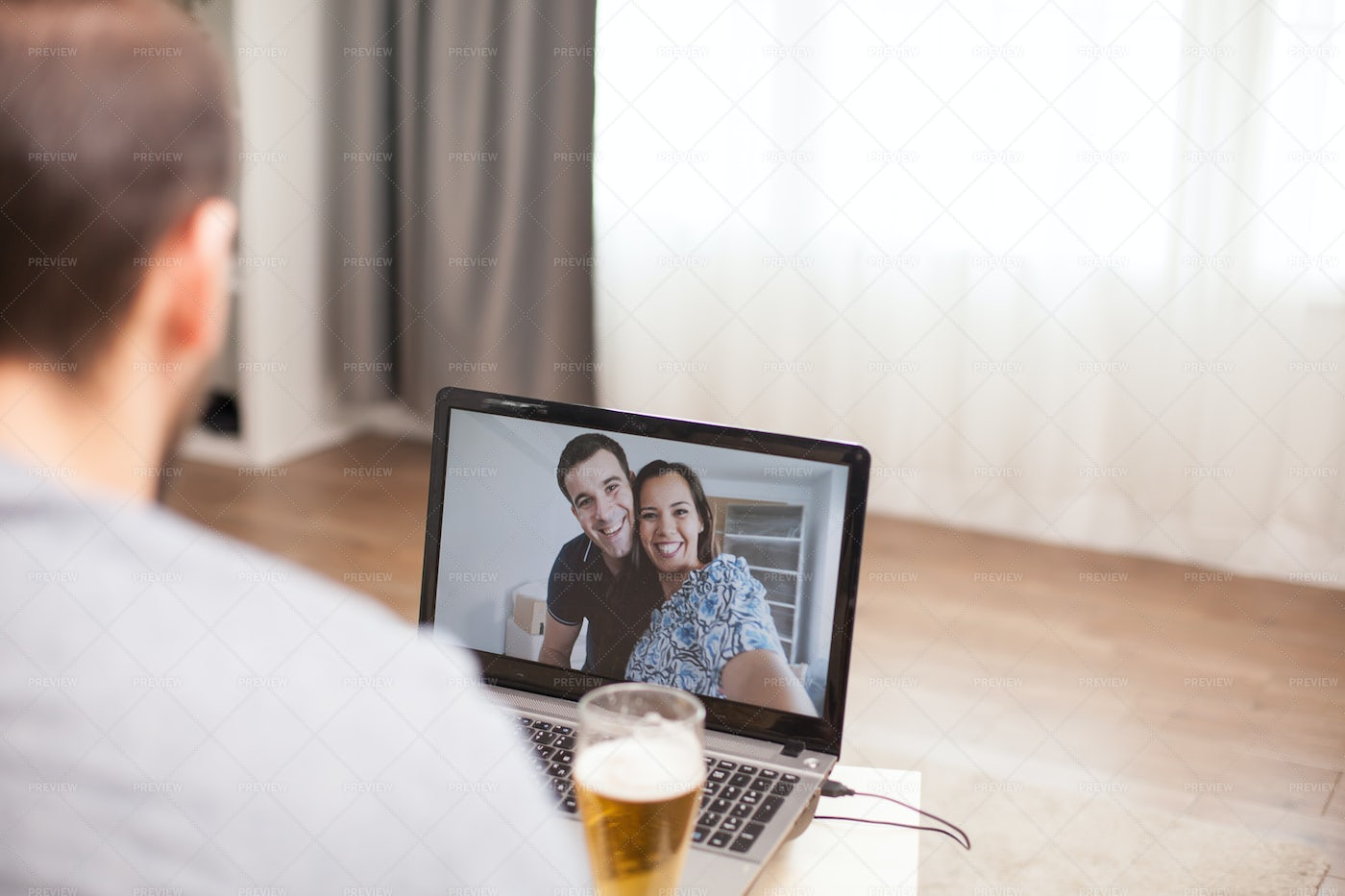 Having Fun With Friends Online: Stock Photos