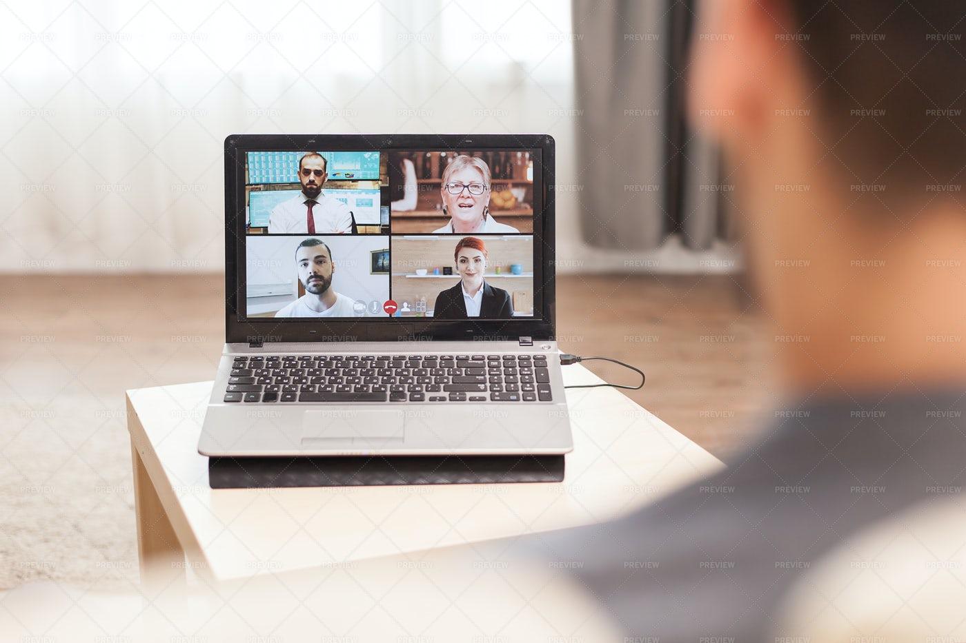 Business Video Call: Stock Photos