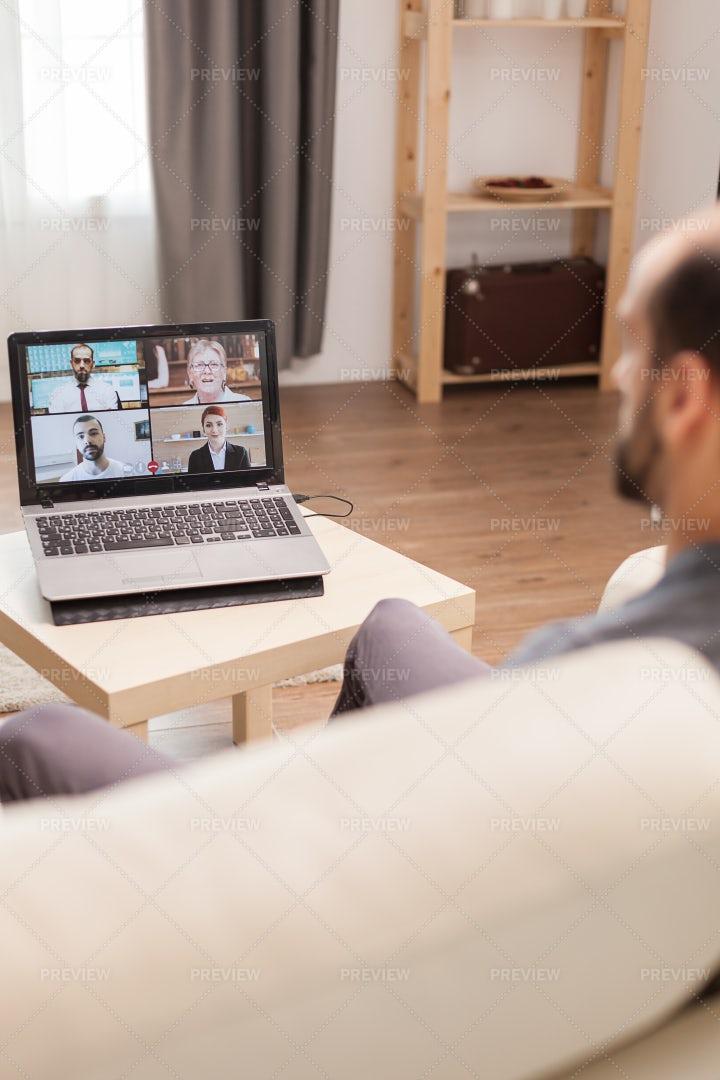 Online Work Meeting: Stock Photos