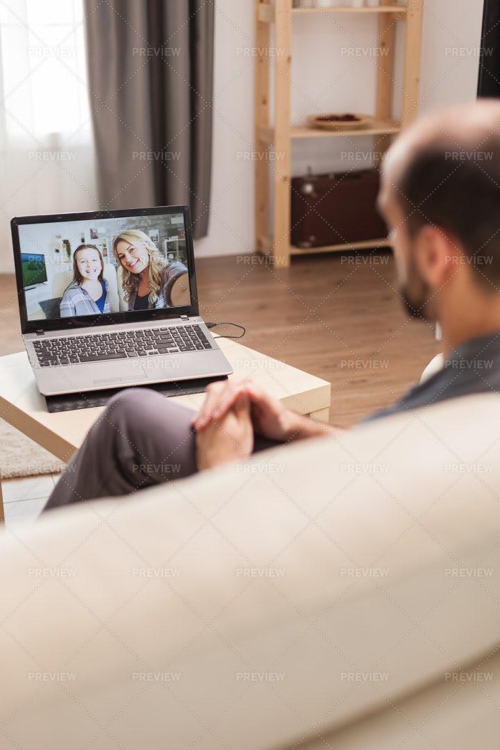 Family Video Call: Stock Photos