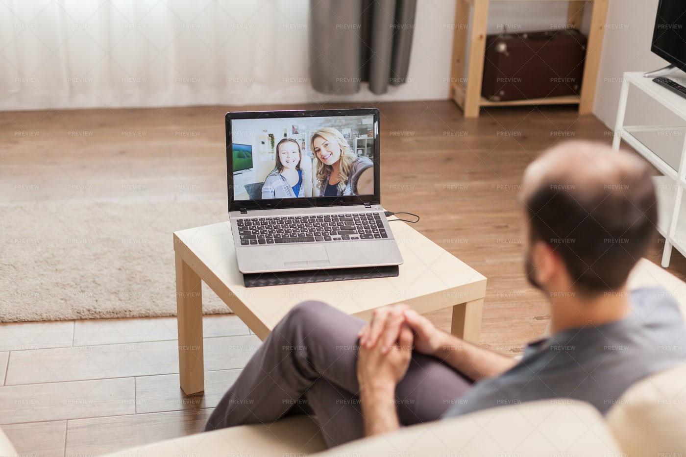 Chatting With Family: Stock Photos