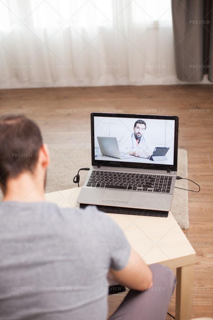 Having A Virtual Consultation: Stock Photos