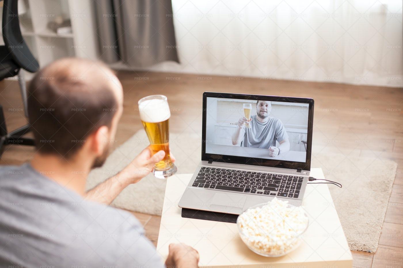 Virtual Cheers: Stock Photos
