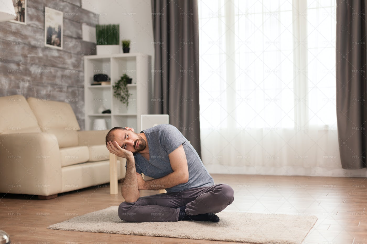 Alone On The Carpet: Stock Photos
