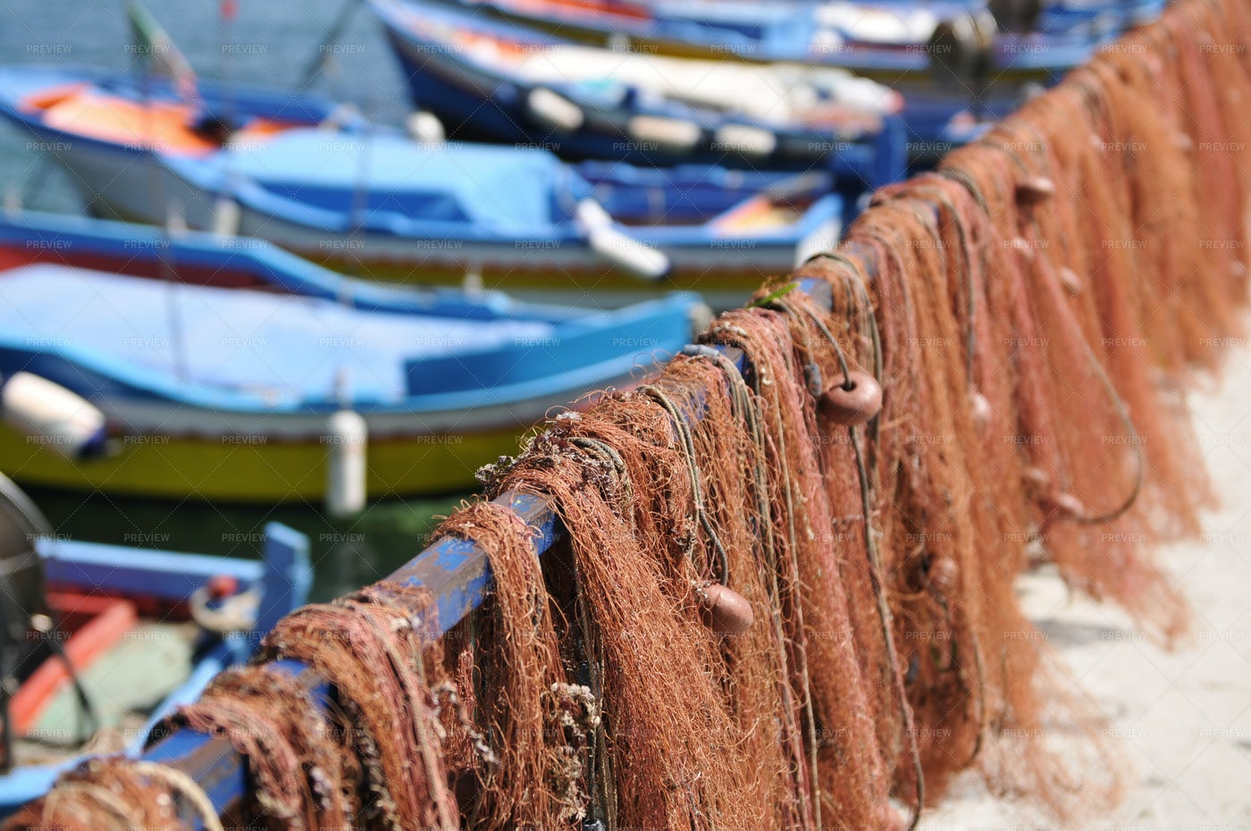 Fishing Nets And Fish Traps: Stock Photos