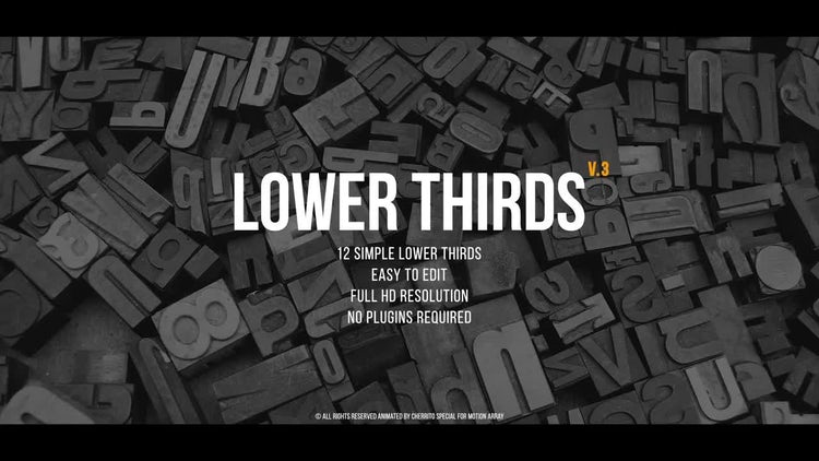 Lower Thirds v.3: Premiere Pro Templates