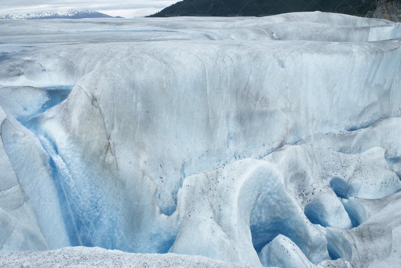 Mendenhall Glacier Ice Formations: Stock Photos