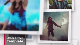 Square Photo - Slideshow: After Effects Templates