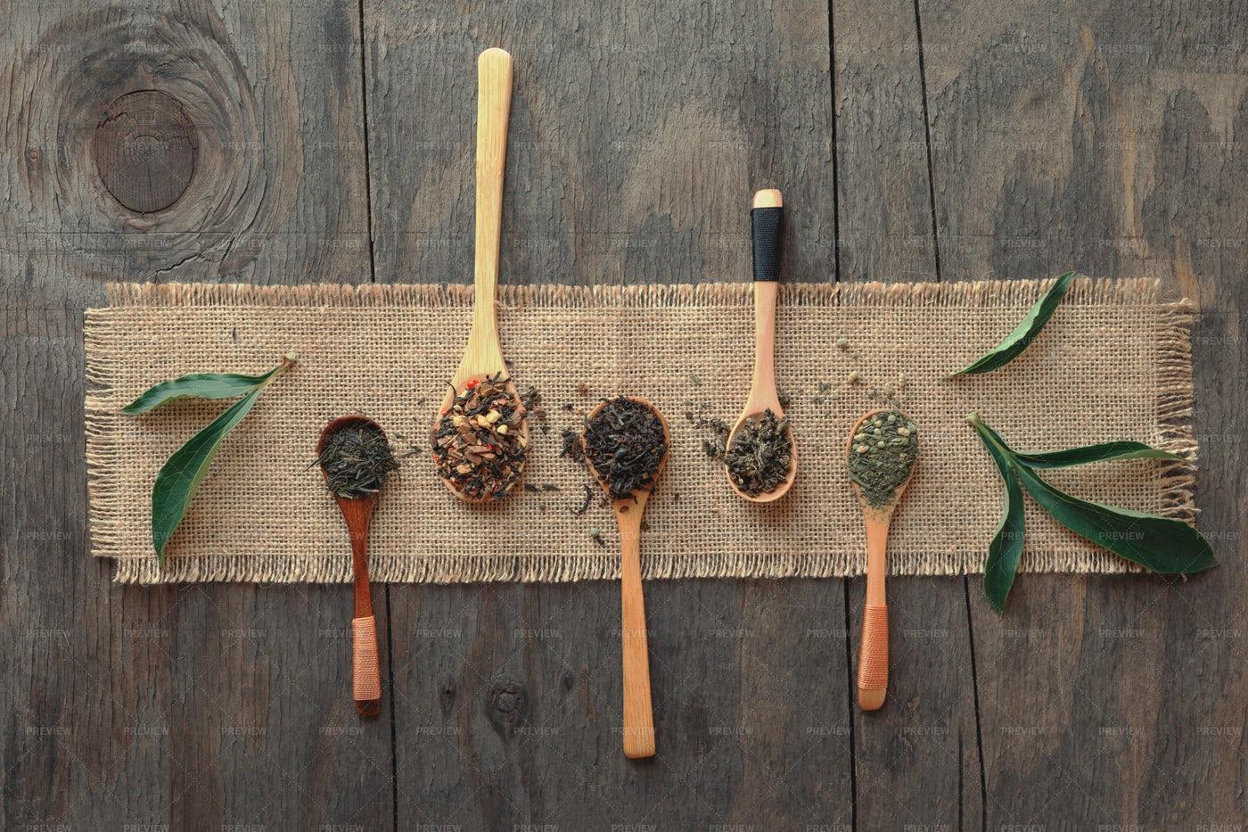 Different Herbal Teas: Stock Photos