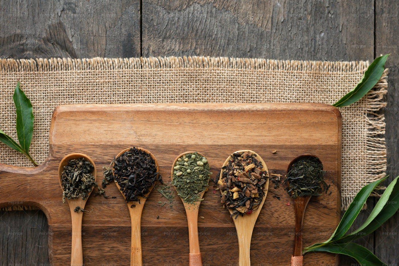 Spoonfuls Of Tea: Stock Photos