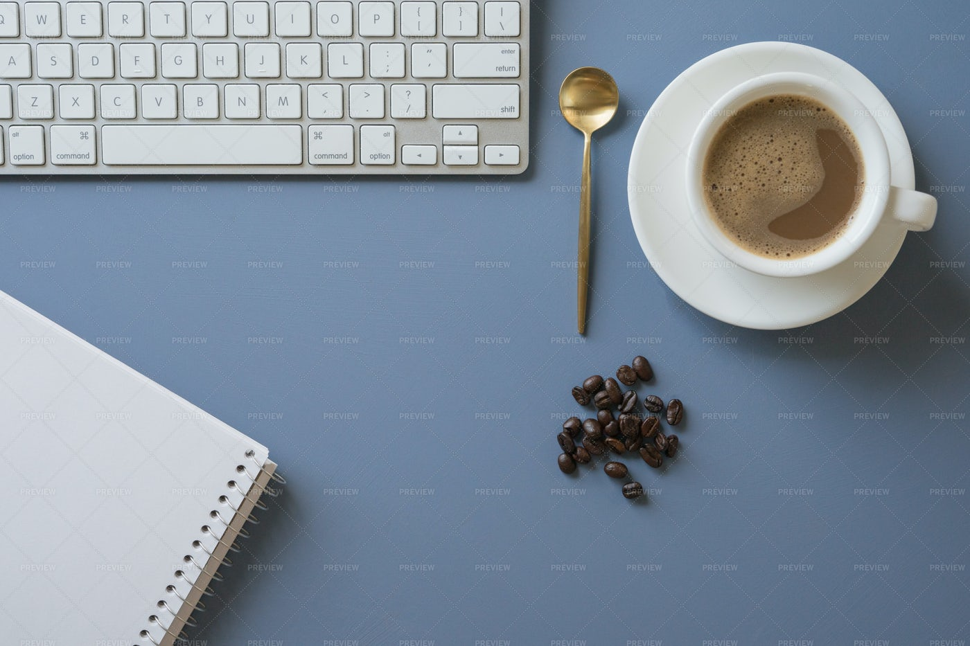 Coffee At The Workspace: Stock Photos