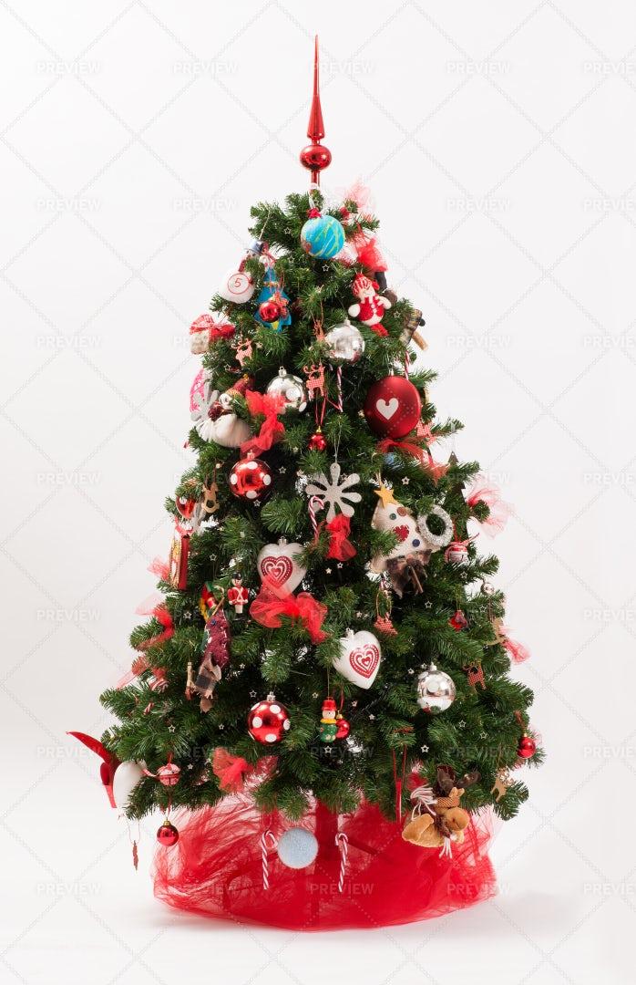 Decorated Christmas Tree: Stock Photos