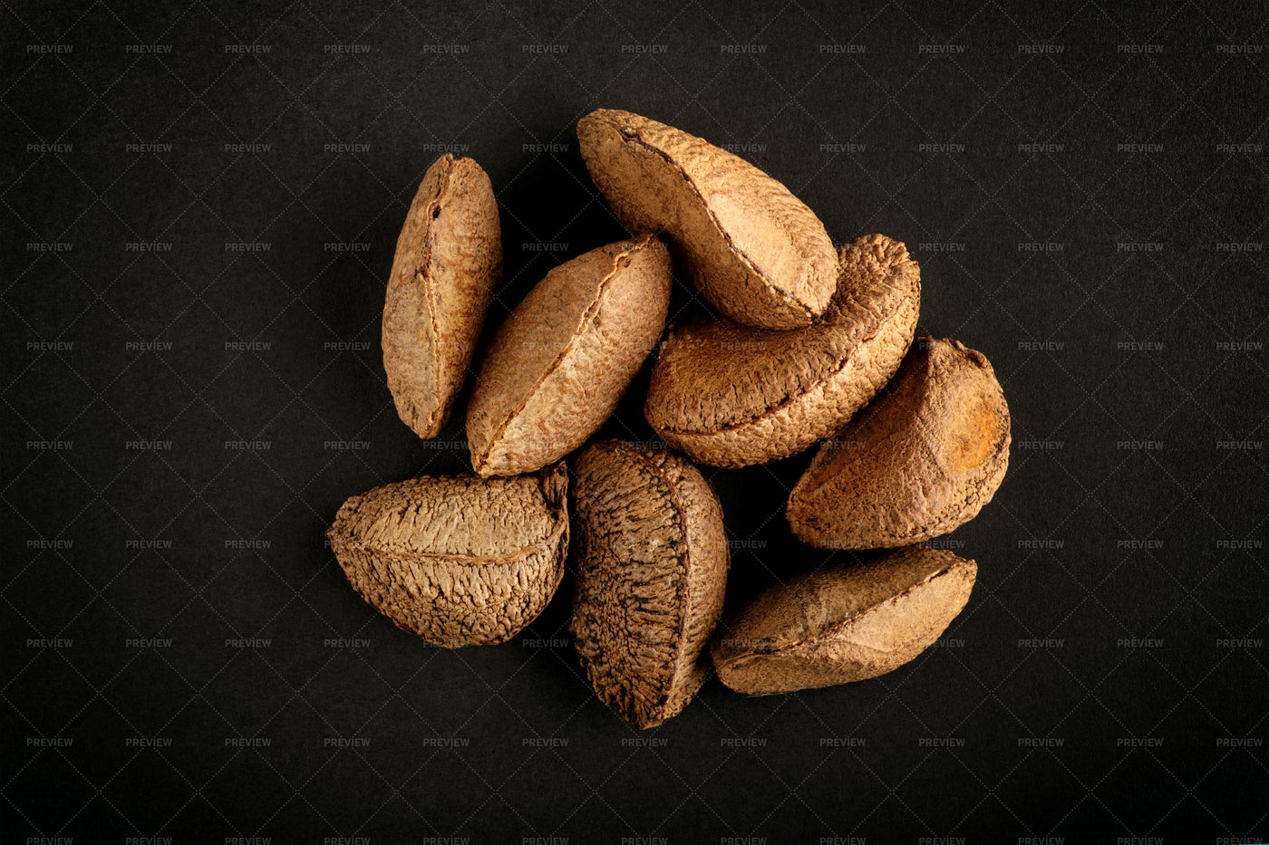 Brazil Nuts In Shells: Stock Photos