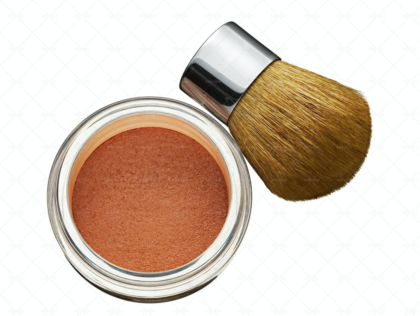 Cosmetics Foundation Powder: Stock Photos