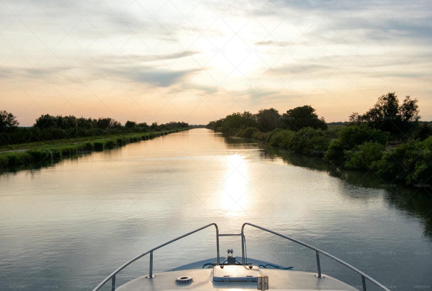 Sailing At Sunset: Stock Photos