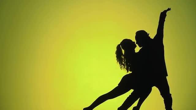 Silhouette Dancers: Stock Video