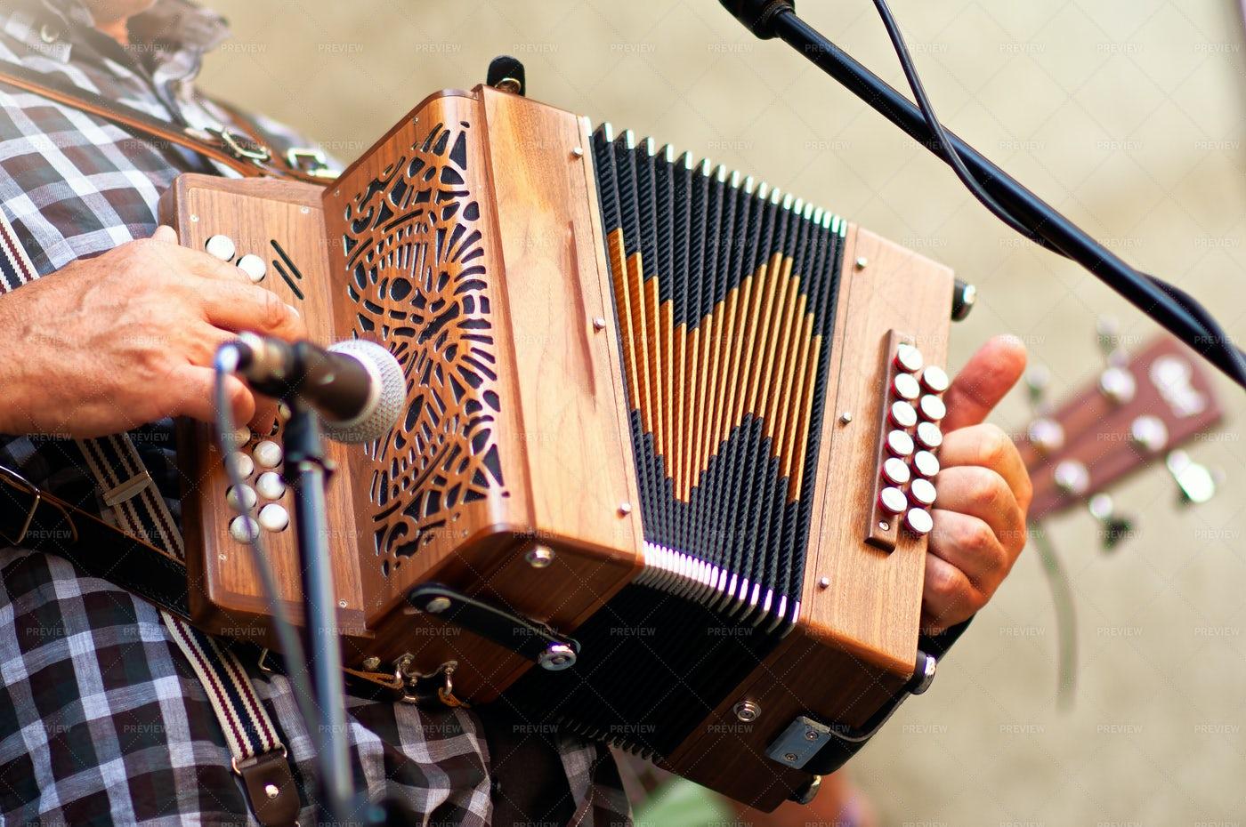 Popular Accordion Player: Stock Photos