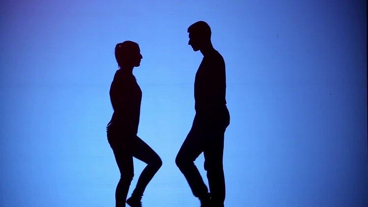 Silhouette Dancing: Stock Video