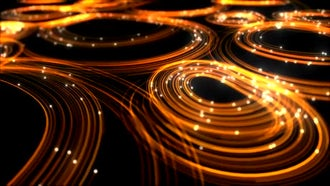 Elegant Golden Lines Background: Motion Graphics