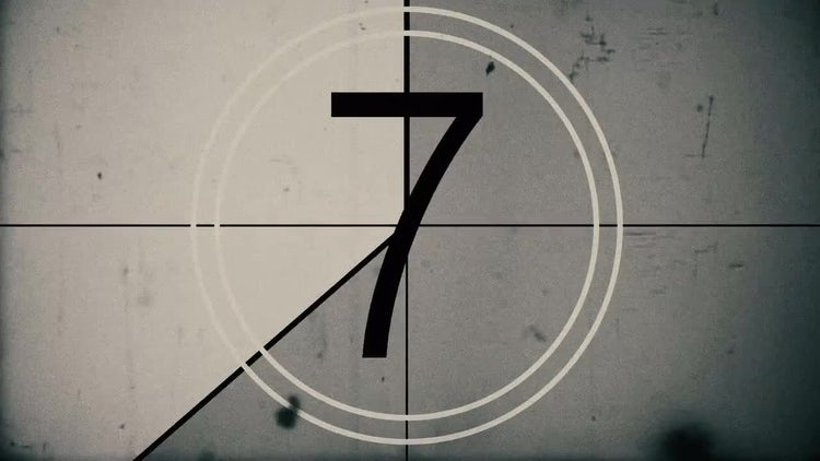 Vintage Film Countdown: Stock Motion Graphics