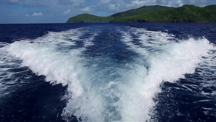 Speedboat Wake On Water: Stock Video
