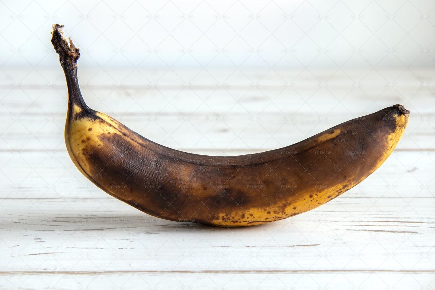 Spoiled Darkened Banana: Stock Photos