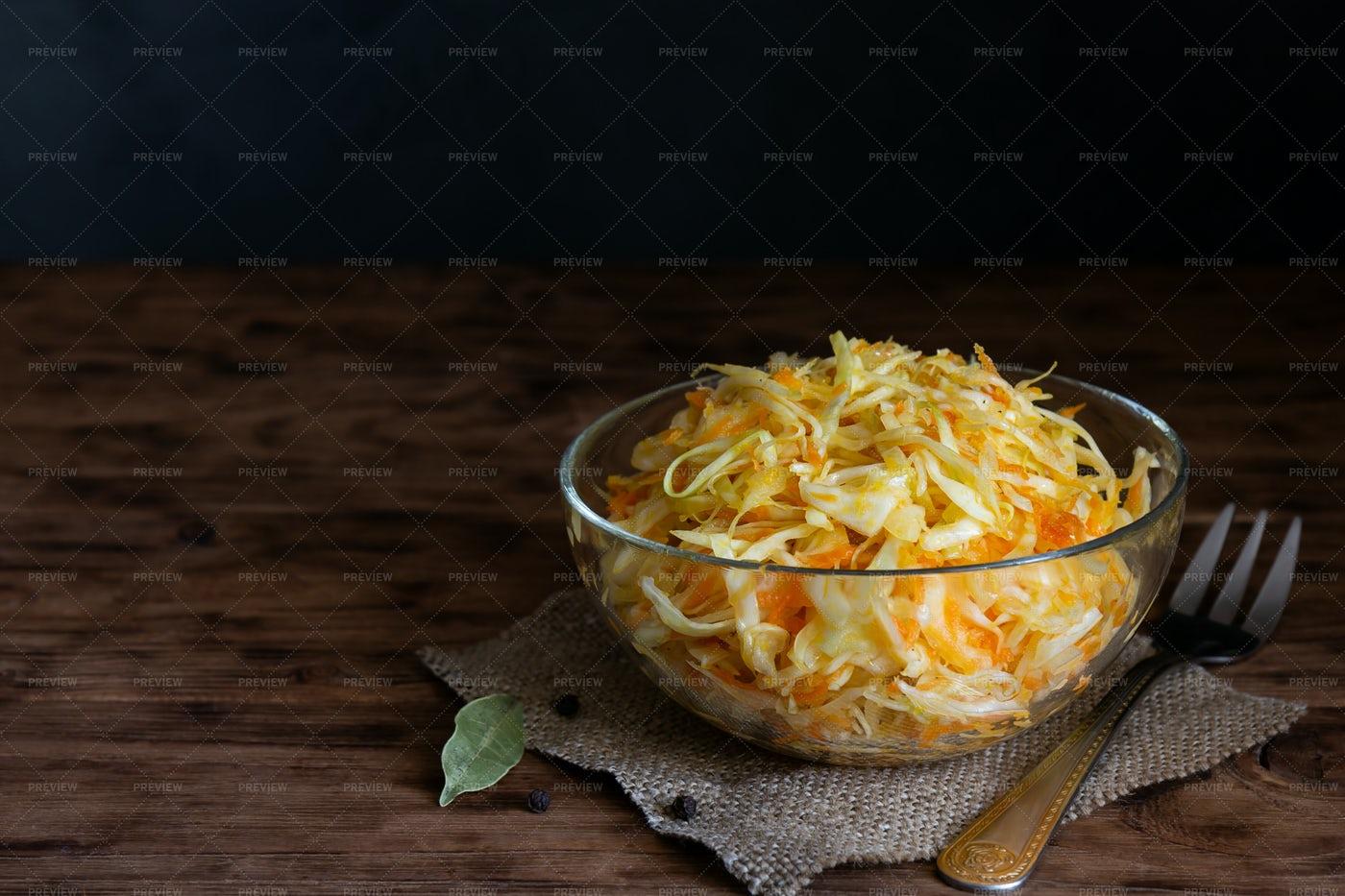 Sauerkraut With Carrots: Stock Photos