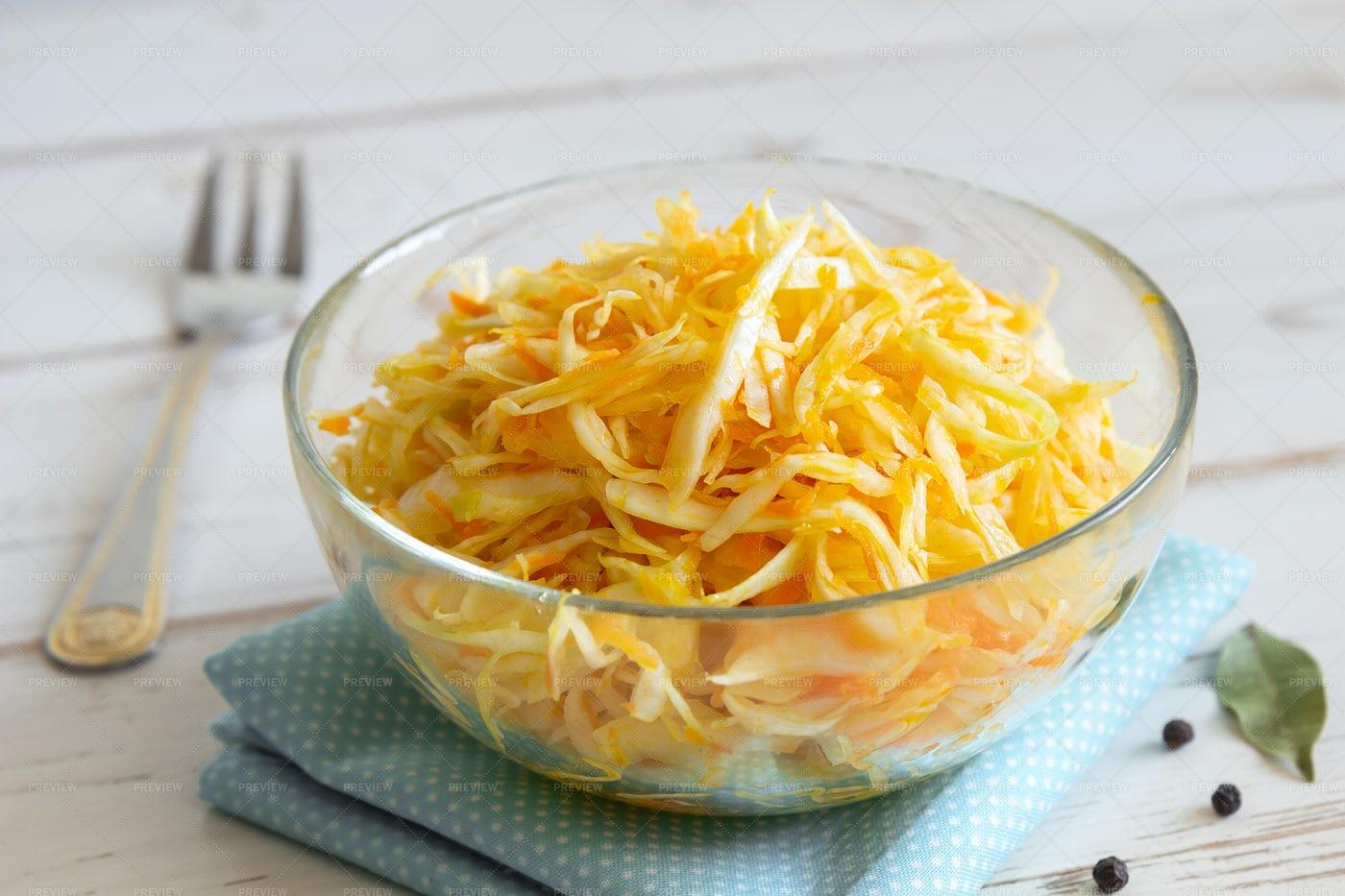Sauerkraut And Carrots: Stock Photos