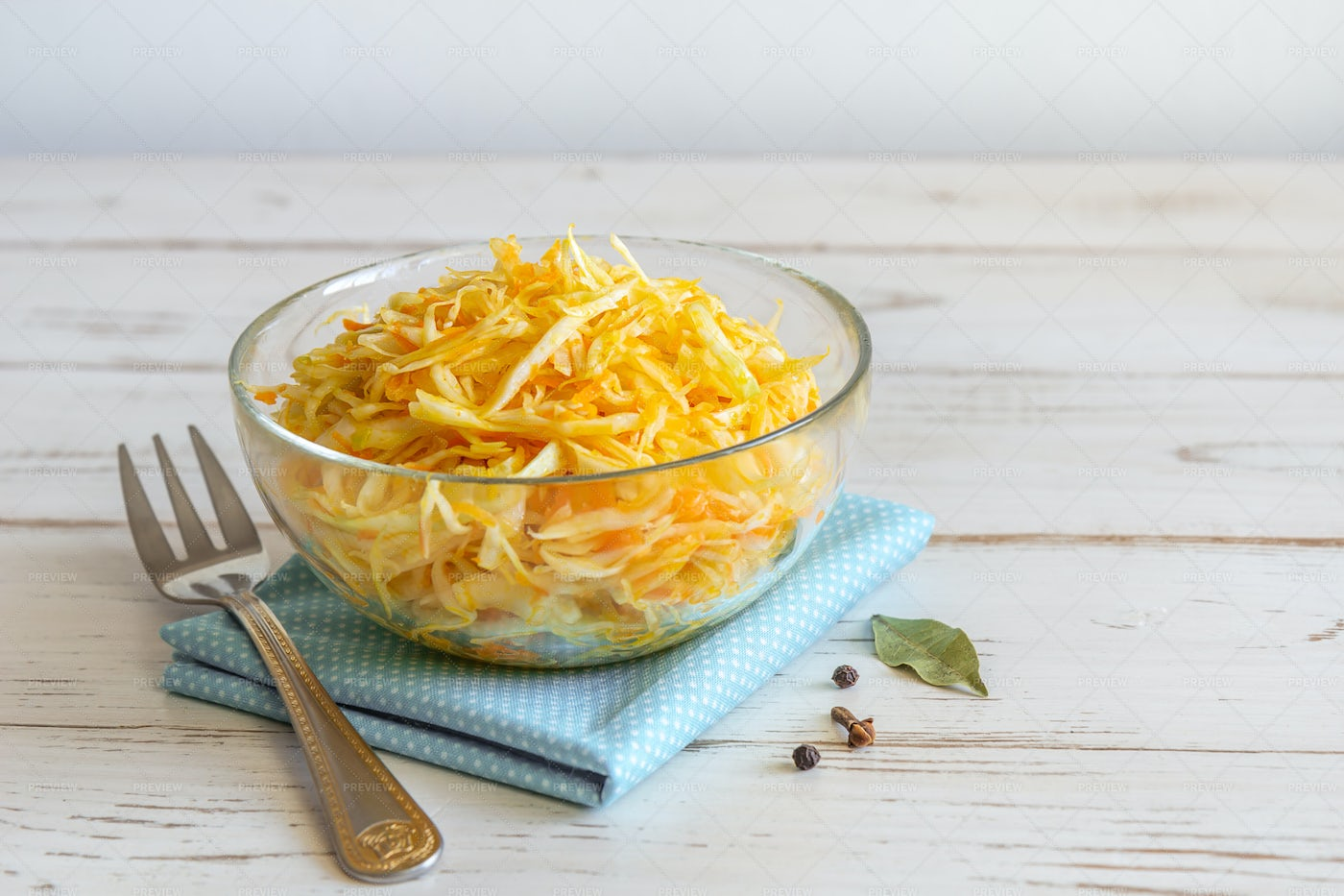 Pickled Cabbage With Carrots: Stock Photos