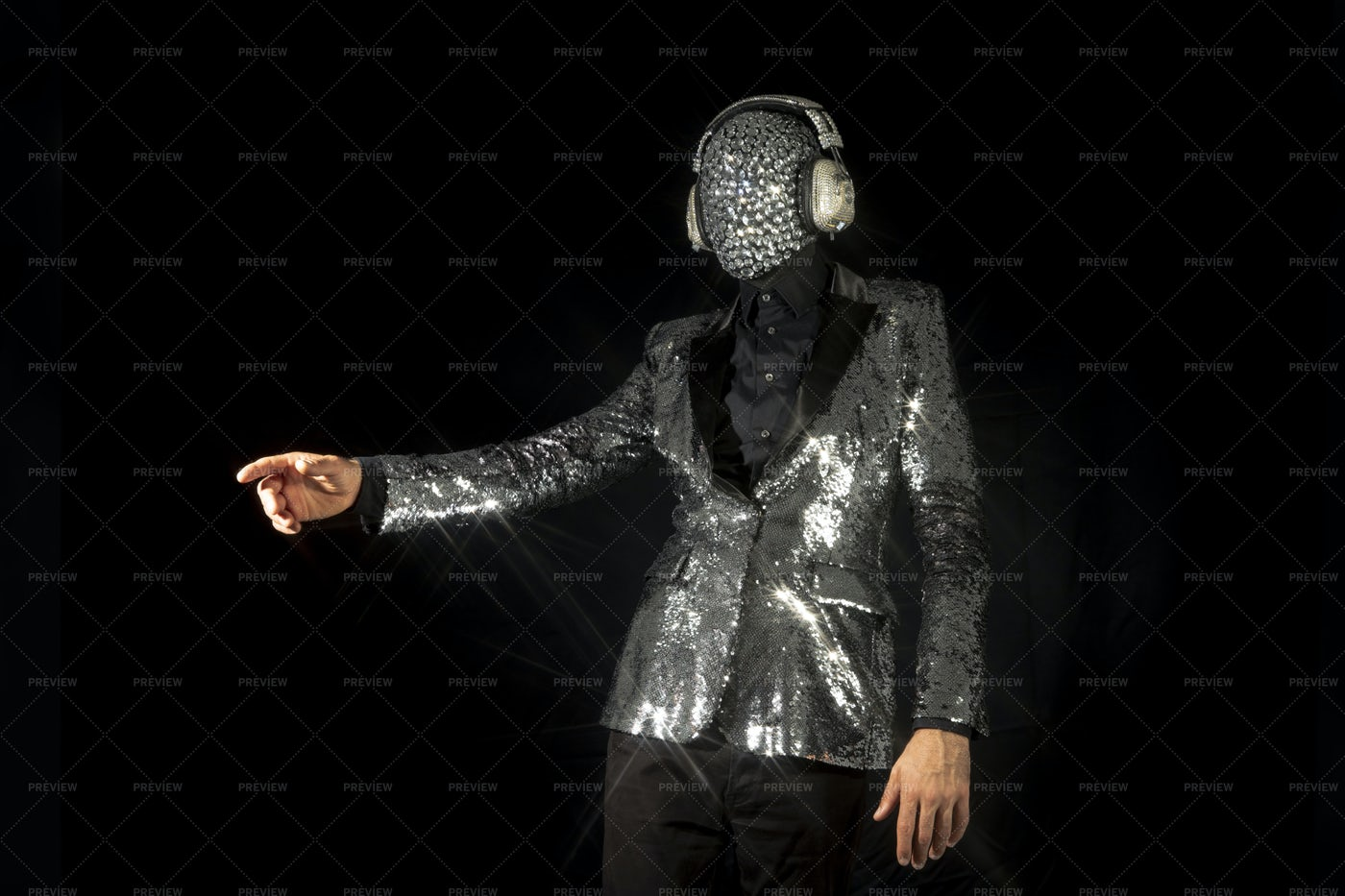 Sparkling Suit And Mask: Stock Photos