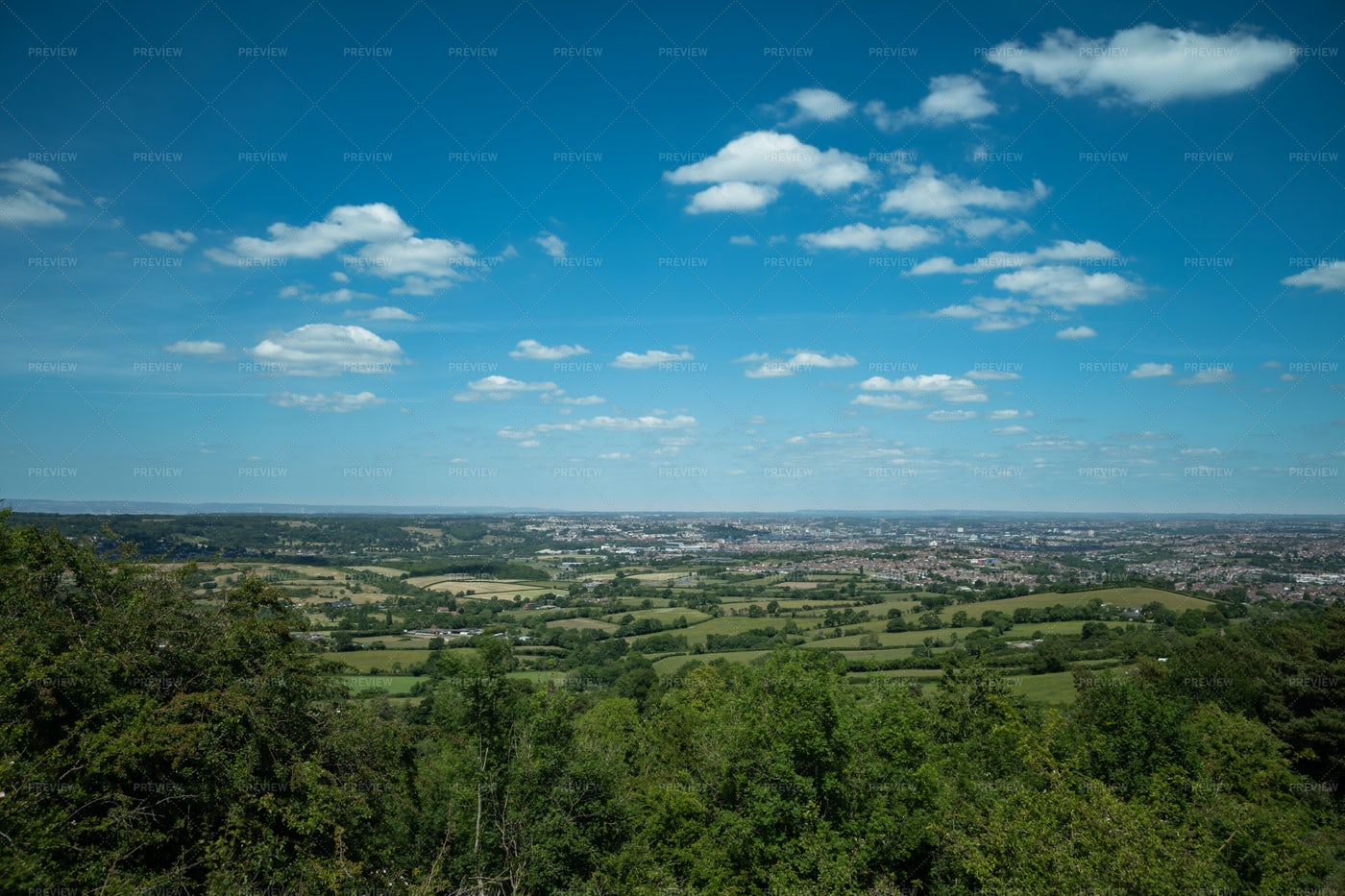 Bristol In The Distance: Stock Photos