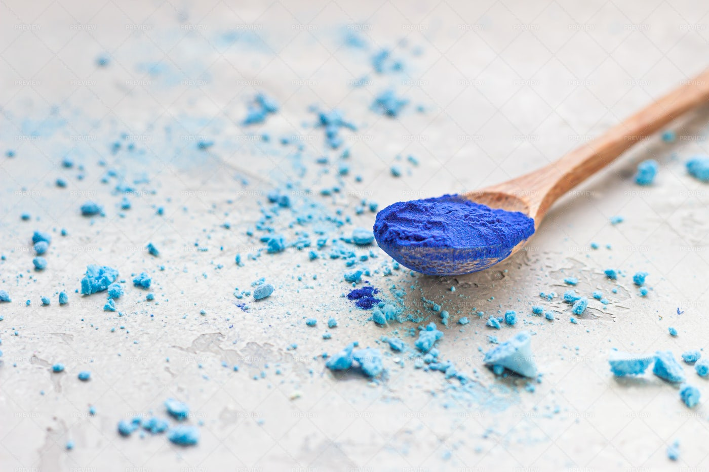 Blue Spirulina And Meringue: Stock Photos