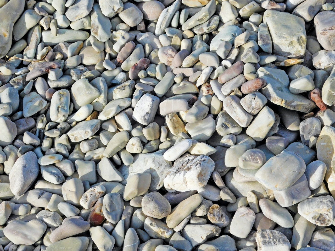 Dry Beach Pebbles: Stock Photos