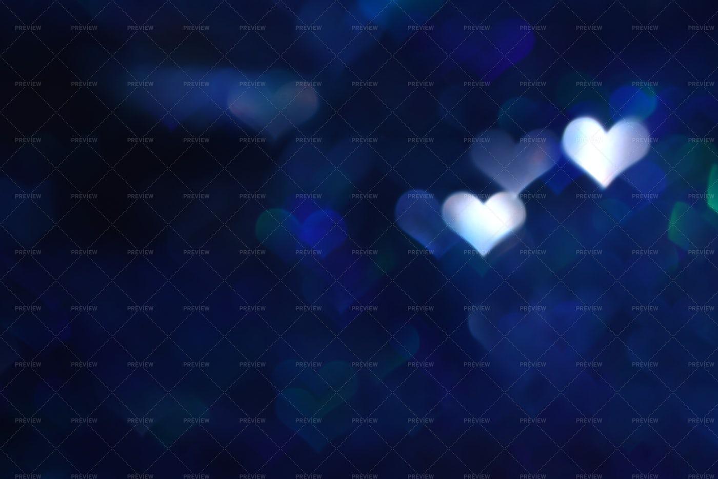 Bokeh Of Hearts: Stock Photos