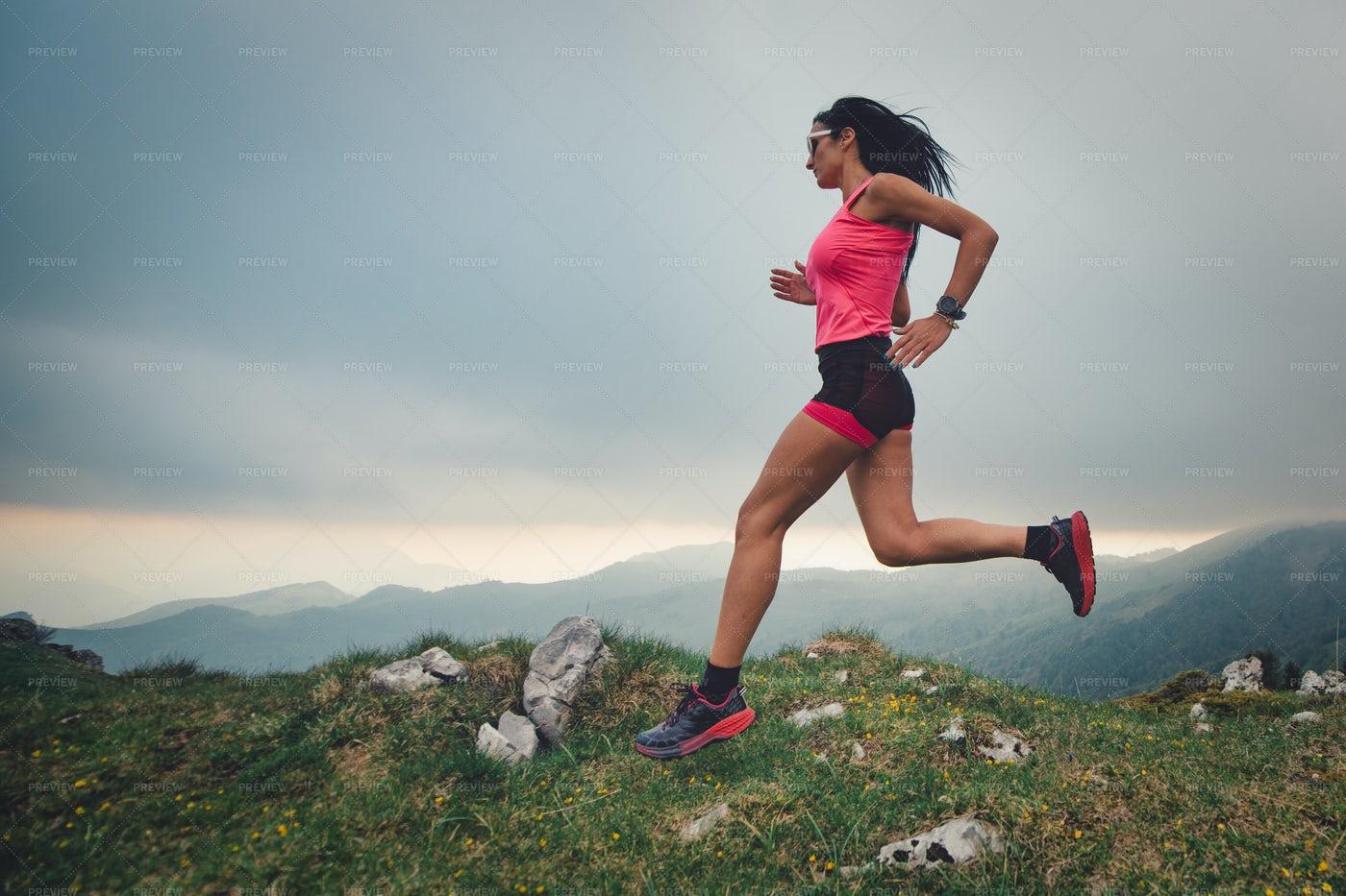 Running On The Mountain Tops: Stock Photos