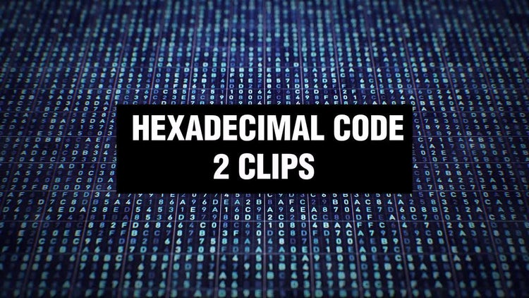 Hexadecimal Code Backgrounds: Stock Motion Graphics