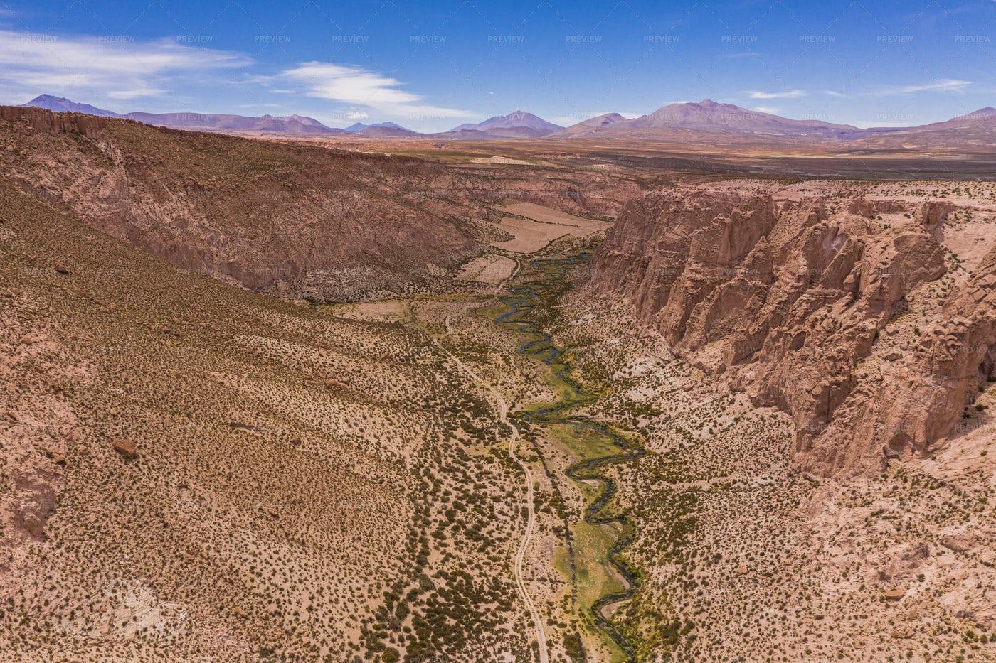 Inca Canyon And River: Stock Photos