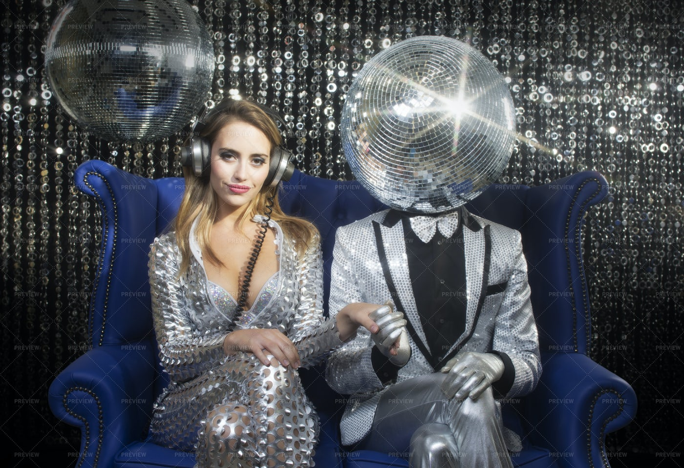 Mr And Mrs Discoball: Stock Photos