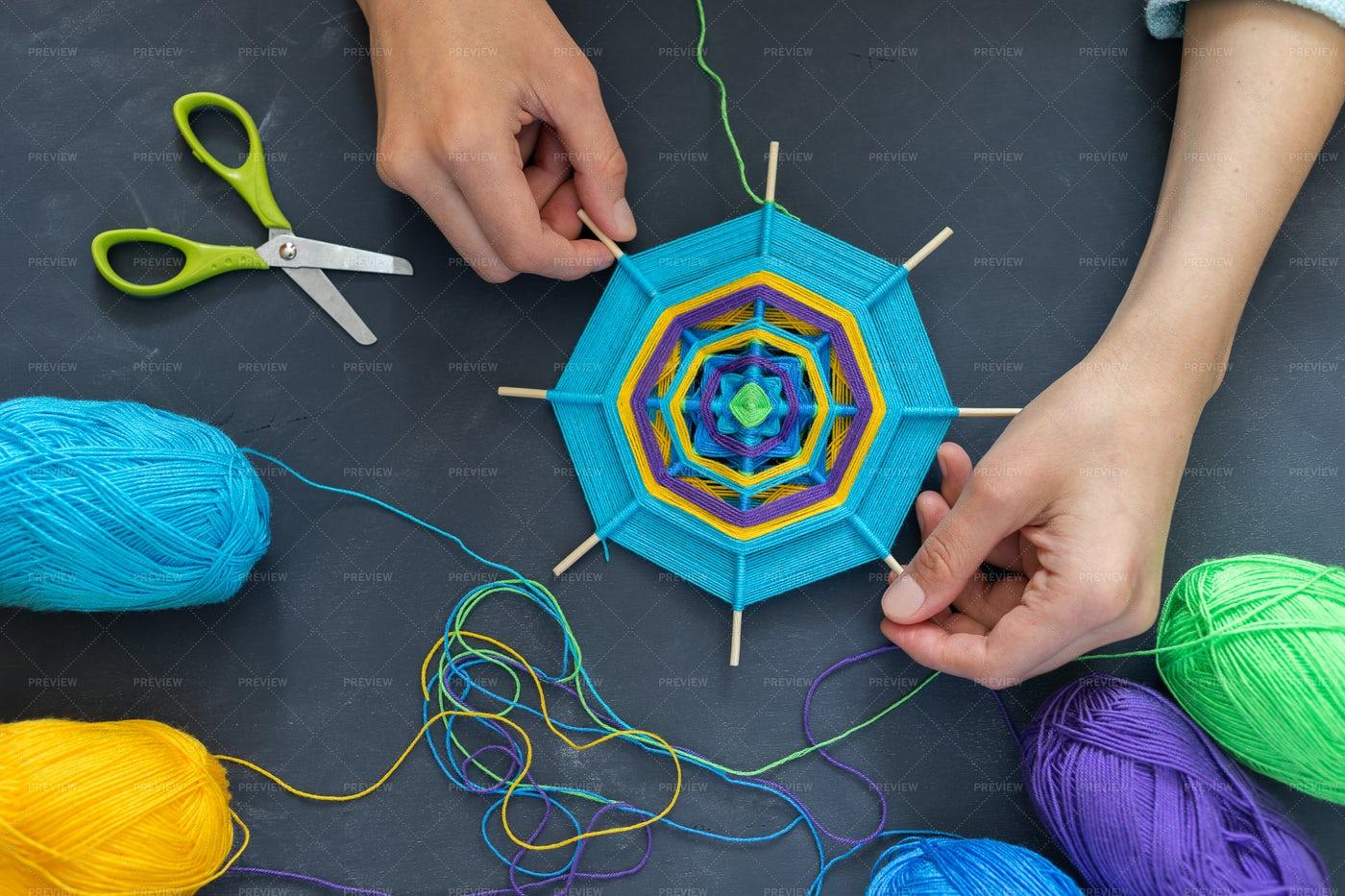 Making A Mandala: Stock Photos