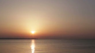 Sea Coast At Sunrise Timelapse: Stock Video