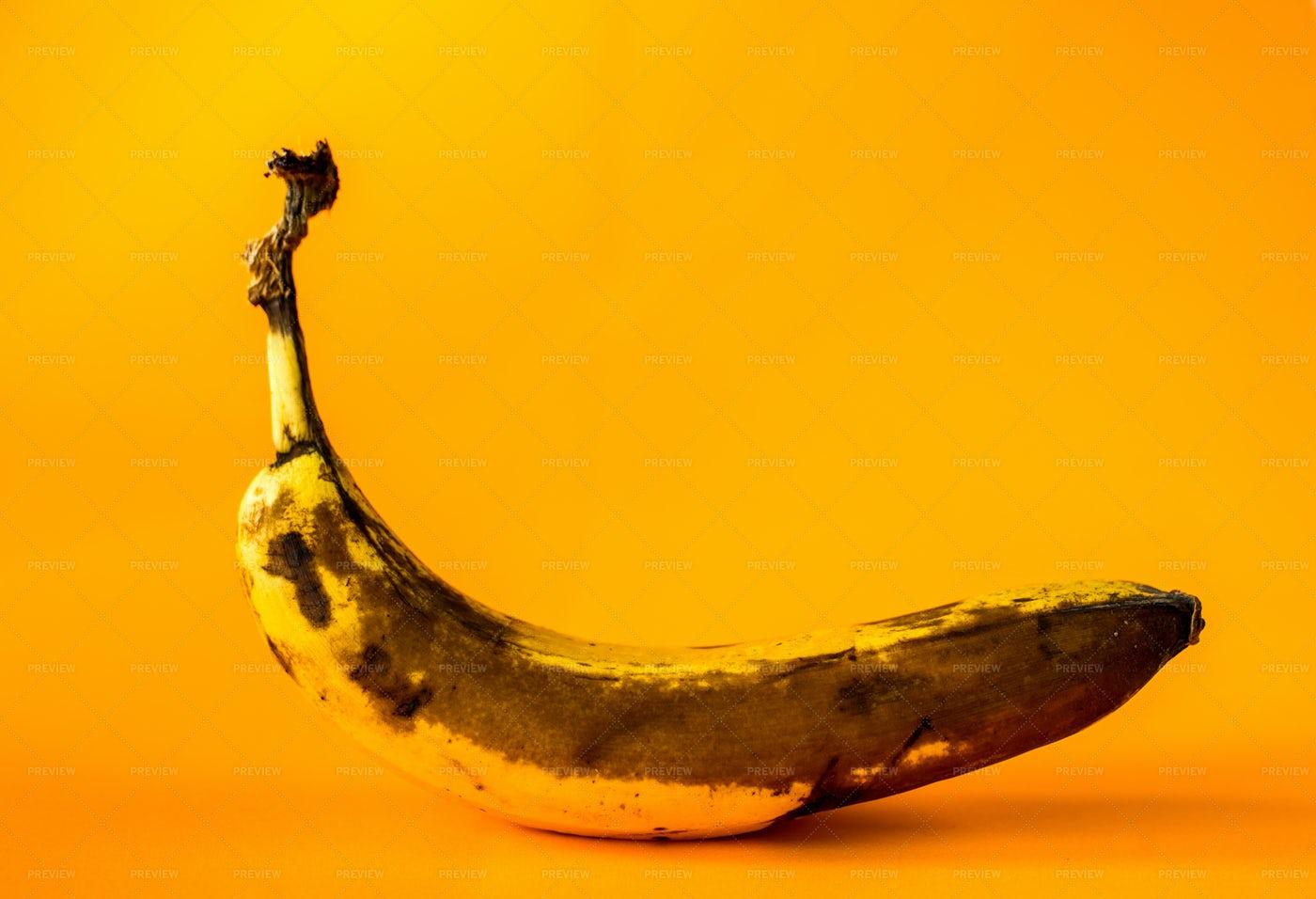 An Over Ripe Banana: Stock Photos